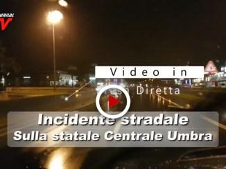 Incidente stradale tra Santa Maria degli Angeli e Bastia, il video
