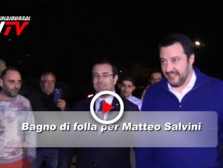 Bagno di folla in Umbria per Matteo Salvini, il video e intervista