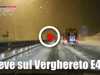 Neve in E45, cala fenomeno resta filtraggio mezzi sul Verghereto