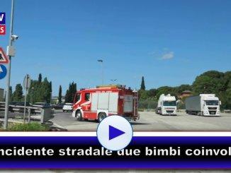 Due bimbi coinvolti in un incidente a Ponte San Giovanni di Perugia, tamponamento