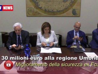 Trenta milioni euro alla regione Umbria, anche per ex Fcu