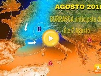 Previsioni del tempo per domani giovedì, 9 agosto su tutta la Penisola