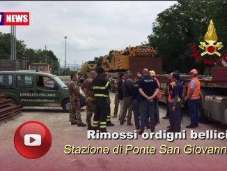 Stazione di Ponte San Giovanni, recuperati ordigni bellici