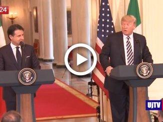 """Donald Trump a Giuseppe Conte: """"Siamo entrambi outsider della politica"""""""