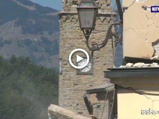 Amatrice, due anni dal sisma: l'orologio simbolo fermo alle 3.36