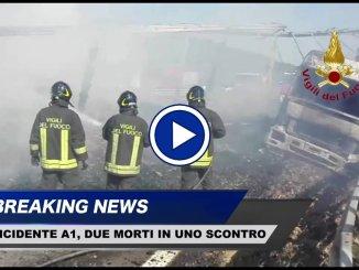 Incidente mortale sull'A1 tra Fabro e Orvieto, le immagini dei vigili del fuoco