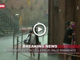Maltempo a Città della Pieve, Palio dei Terzieri rinviato al 26 agosto