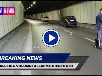 Distacco calcinacciGalleria Volumni, allarme rientrato su Raccordo Perugia Bettolle