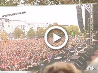 Germania, oltre 50mila al concerto anti-razzismo a Chemnitz