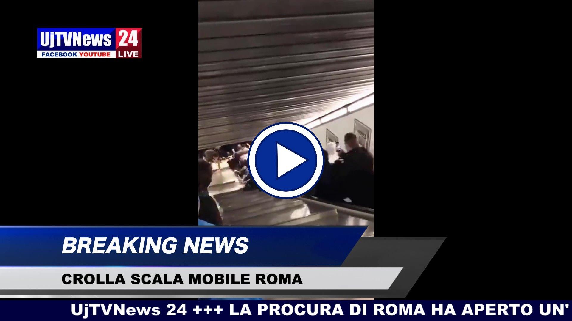 Crolla scala mobile in metro a Roma, video 17 feriti uno grave, indagine