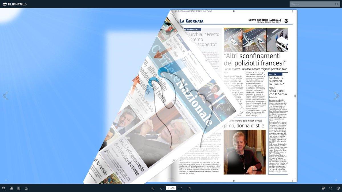 Il nuovo corriere nazionale di sabato 20 ottobre 2018 sfogliabile e scroll