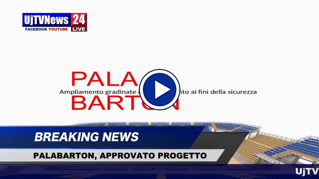 Comune Perugia approva progetto di ampliamento della capienza del PalaBarton