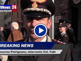 Carabinieri, inaugurazione caserma di Petrignano, intervento del Colonnello Fabi