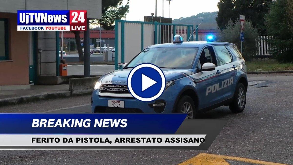 Arrestato assisano, tenta una rapina sparando, il video
