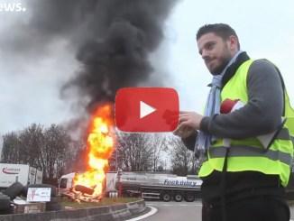 Battaglia contro il caro-carburante in Francia, video, un morto e oltre 400 feriti