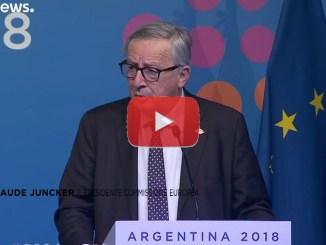 Juncker parla di Conte, non siamo in guerra con l'Italia, video Euronews