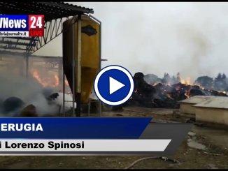 Incendio a Spello, video ore lavoro per 5 squadre vigili del fuoco anche ARPA