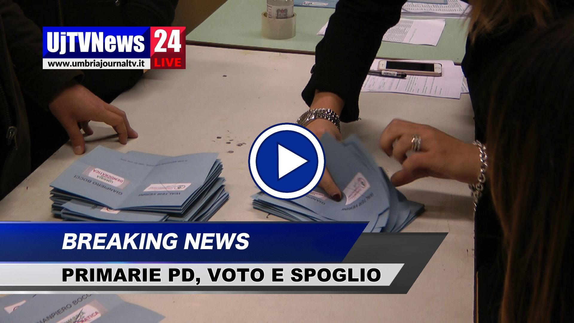 Primarie Pd Umbria, chiusi tutti i seggi, video dello spoglio