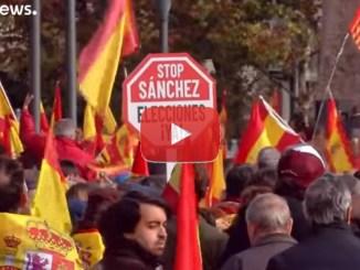 Madrid, la rivolta, video, in migliaia contro Sánchez e gli indipendentisti