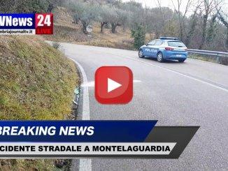 Incidente stradale a Montelaguardia di Perugia, nessun ferito, video