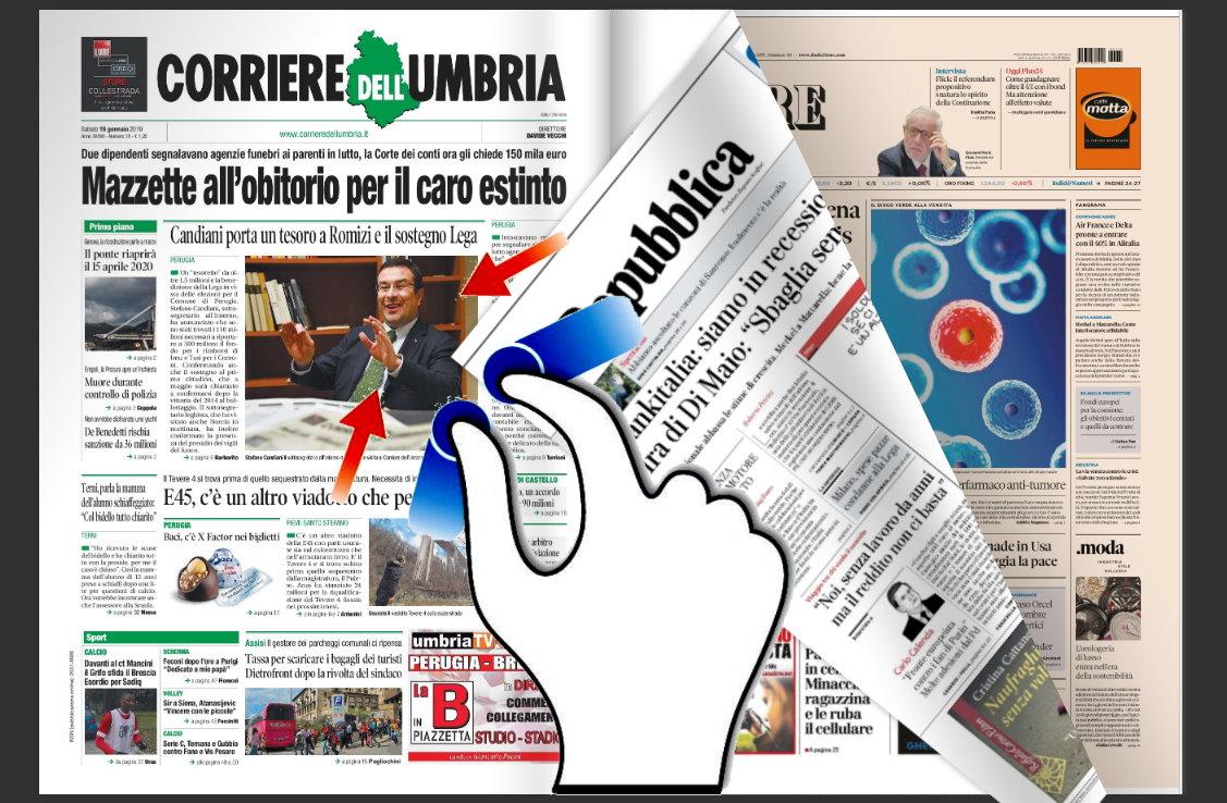 Rassegna stampa nazionale e locale dell'Umbria del 19 gennaio 2019