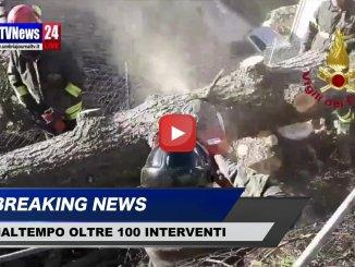 Maltempo oltre 100 gli interventi dei Vigili del fuoco, video delle operazioni