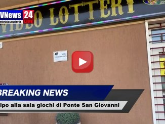 Rapina slot house a Ponte San Giovanni, bottino di 25 mila euro, video