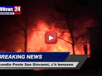 Incendio Ponte San Giovanni, Arpa, benzene 20 volte superiore, video
