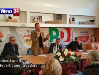 Lucio Raspa candidato centrosinistra Bastia inaugura sede comitato elettorale