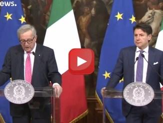 """Juncker: """"Preoccupato per la regressione italiana"""", ha incontrato Conte"""
