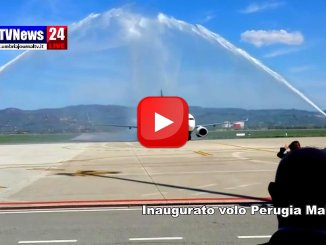 🔴 Video 🔴 Inaugurato volo Perugia-Malta battesimo all'aeroporto dell'Umbria