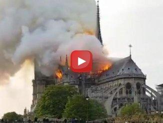 Incendio, va fa fuoco la cattedrale di Notre Dame a Parigi