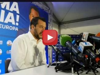 Conferenza stampa di Matteo Salvini dopo il grande risultato della Lega alle Europee