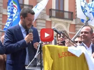 """Salvini a Lecce: """"Tecnici Viminale lavoro per Dl Bis, testo non stravolto"""""""