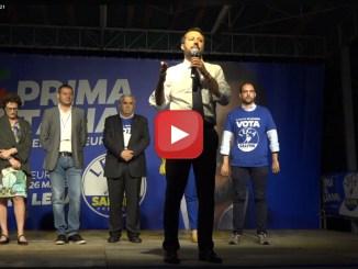 La Lega chiude campagna elettorale a Piacenza Salvini ancora altra diretta