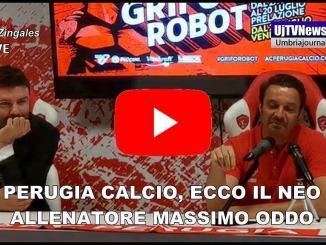 Perugia Calcio, il mister Massimo Oddo si presenta alla città e ai tifosi
