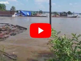 Russia: alluvione nella regione di Irkutsk, proseguono i soccorsi