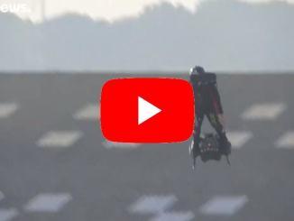 Fallisce l'impresa dell'uomo volante è caduto nella Manica