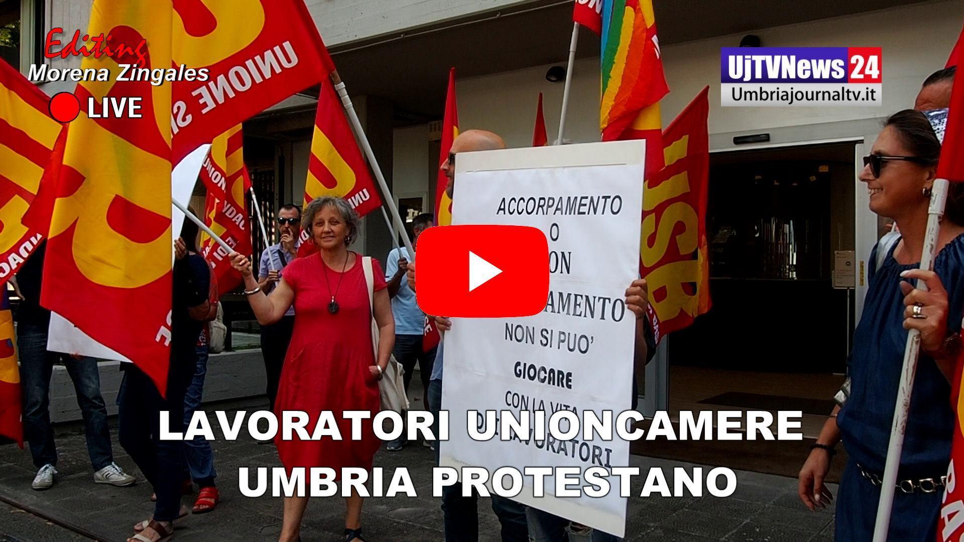 Dipendenti pubblici della Unioncamere Umbria protestano