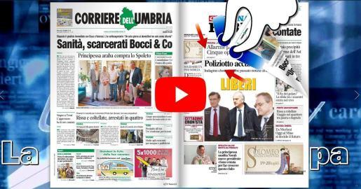 Rassegna stampa del mattino Umbria Journal TV 3 giungo 2019