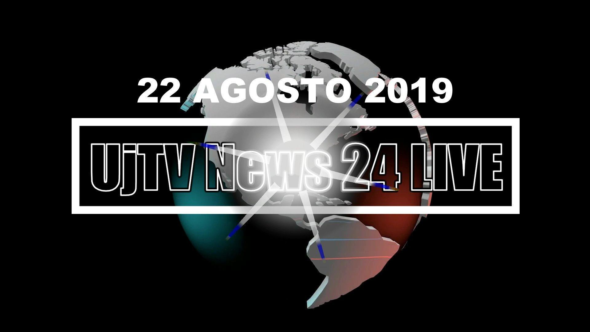 TG edizione della sera 22 agosto 2019 telegiornale dell'Umbria UjTV News24 LIVE