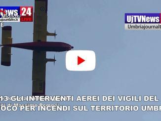 Video degli interventi dei vigili del fuoco per gli incendi in Umbria