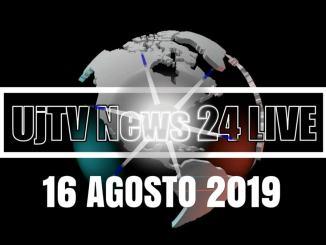 TG edizione della sera 16 agosto 2019 telegiornale dell'Umbria UjTV News24 LIVE