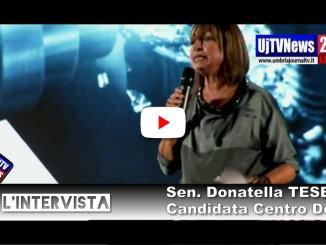 Donatella Tesei apre la campagna elettorale, elezioni Umbria  LIVE