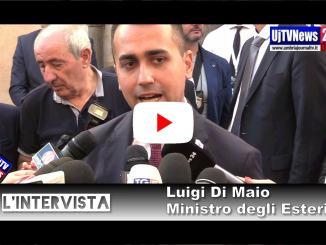 """L'intervista a Luigi Di Maio, il ministro ad Assisi rilancia Proietti, lei """"no comment"""""""
