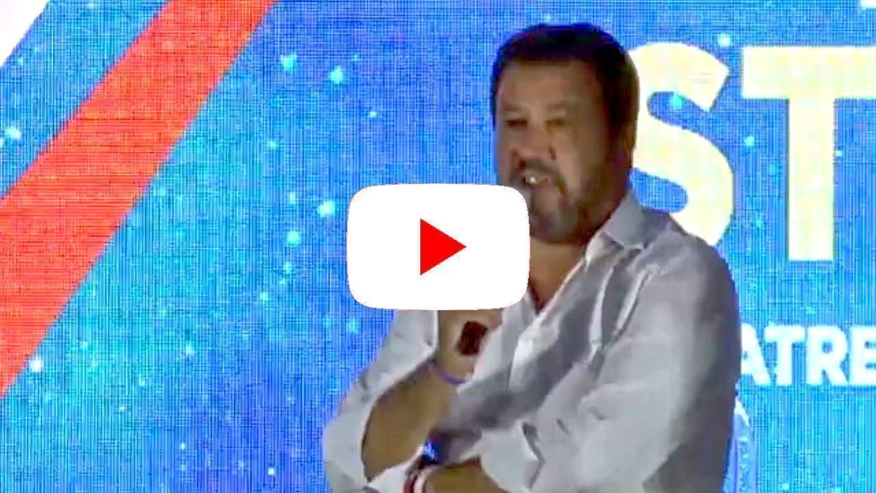 Matteo Salvini diretta live a ATREJU a Roma, aspetto al varco i vigliacchi
