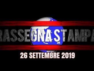 Rassegna stampa dell'Umbria 26 settembre 2019 UjTV News24 LIVE