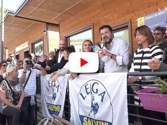 State con noi, dice Matteo Salvini a Cascia, splendida città del Santuario di Santa Rita