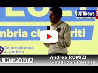 Andrea Romizi, sindaco di Peruga, presenta Doantella Tesei |LIVE