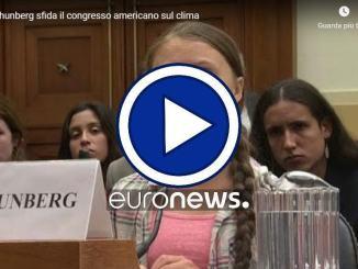 Greta Thunberg sfida il congresso americano sul clima